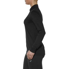 asics LS 1/2 Zip Top - Camiseta manga larga running Mujer - negro